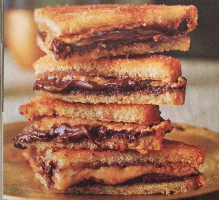 Jacques Pepin - Chocolate & Peanut Butter Croque Bebes