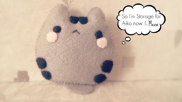 pusheen cat, kitty, cute, plush, plushie, plushy