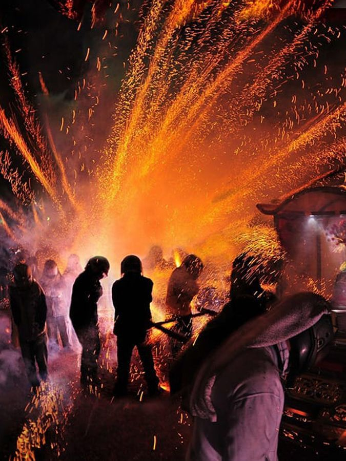 Tainan Yanshuei (Yanshui) Beehive Fireworks Festival in Taiwan