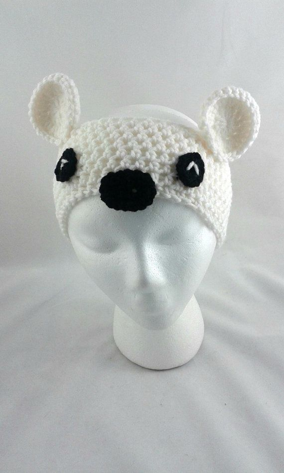 This polar headband can be made in sizes newborn- adult men! Message me if you'd like a specific animal made, I will try my best to work with you in making your very own animal headband!   Polar bear headband / crochet headband / animal by PrairieLoops  https://www.etsy.com/shop/PrairieLoops?ref=hdr_shop_menu