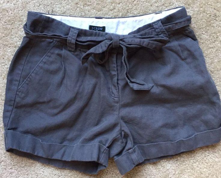 "J. CREW Women's Gray Linen/Cotton Blend Mini Shorts ~EUC~ Size 0 (28"" Waist)  | eBay"