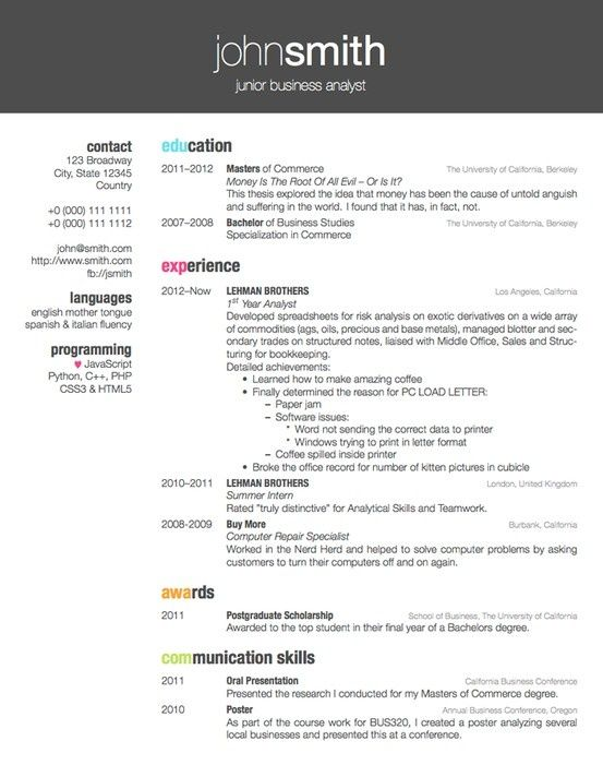 Best 25+ Latex resume template ideas on Pinterest Latex letter - programmer analyst resume sample