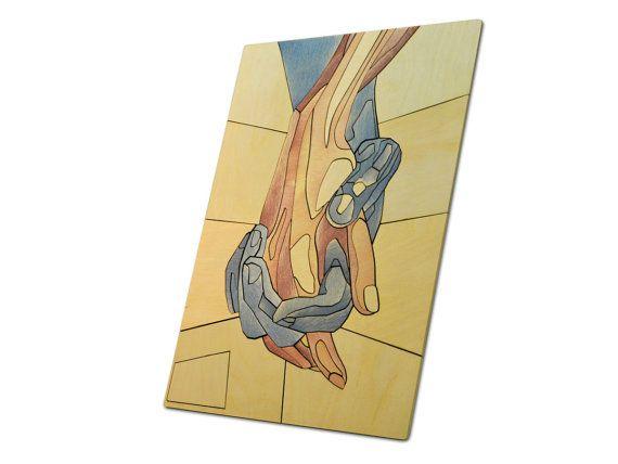 Romantic Hands Wooden Mosaic / Handmade by InspirativeLaser