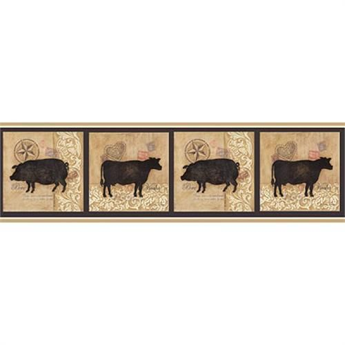 Farm Silhouettes Border Brown Animal Silhouette Art At MenardsR