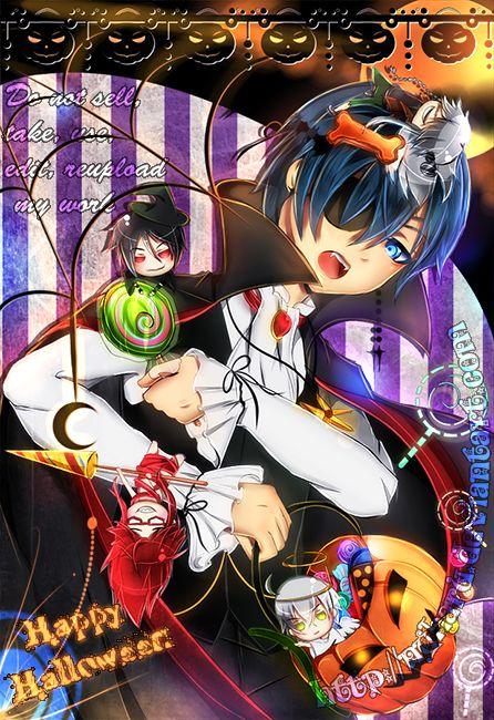 Black Butler Halloween Vampire Ciel Phantomhive and mini ...