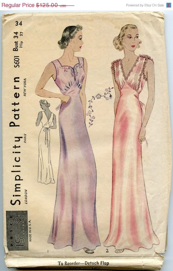 ON SALE 1930s Lingerie Pattern Rare Simplicity by GreyDogVintage, $100.00