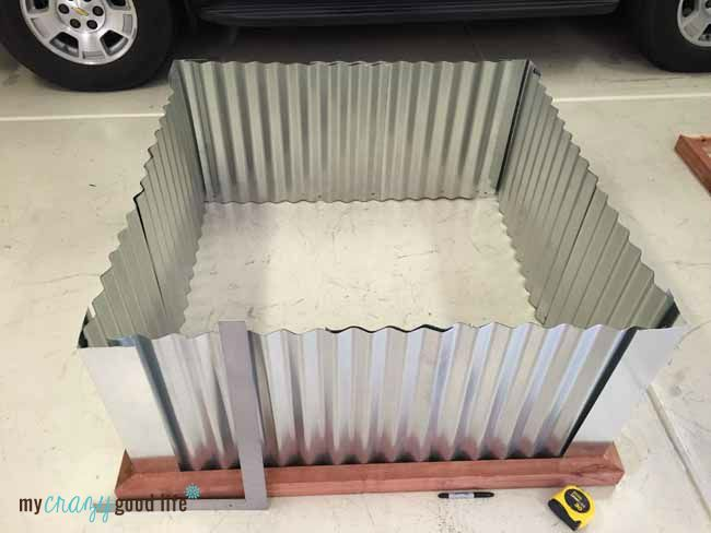 Corrugated Metal Planter Boxes Building Raised Garden