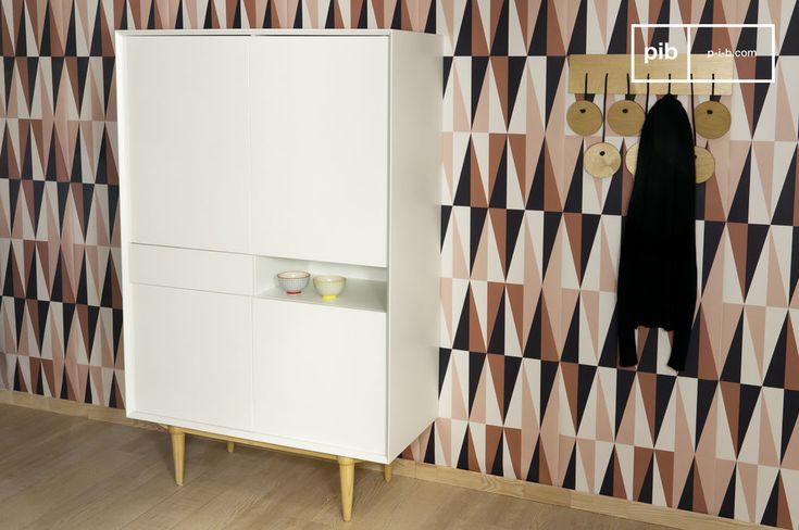 Opta per questa credenza che combina gli aspetti pratici del design moderno con la tipica eleganza dello stile Vintage Scandinavo.