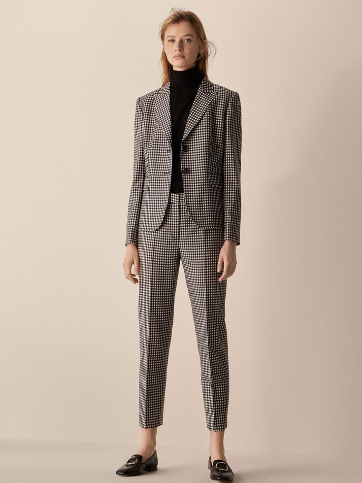 Gingham Check Suit