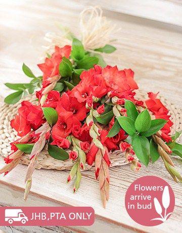 Red Gladiolus Bouquet