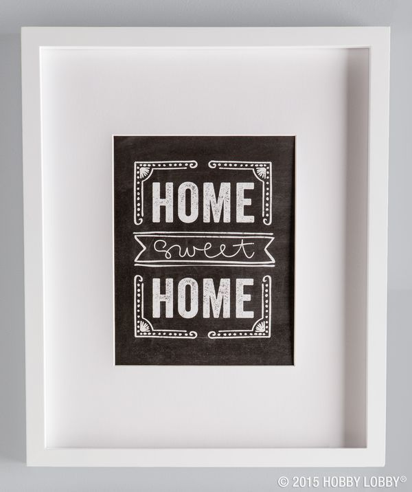 Home sweet home! Visit your local store for our DIY gallery wall art.