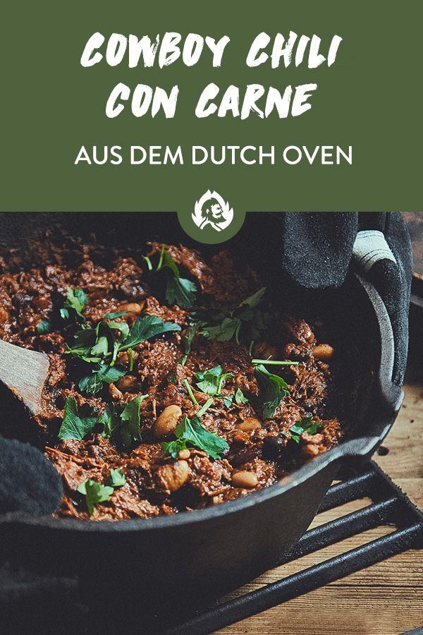 Cowboy Chili con Carne aus dem Dutch Oven