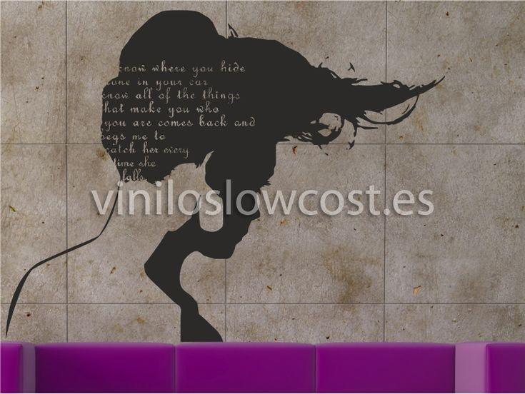 Vinilo cabello al viento - Fotomurales y Vinilos Low Cost
