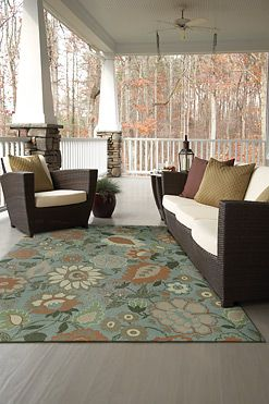 Use One Of Our Indoor Outdoor Rugs Like The Cau Bouquet Pictured Here To Spruce Up Your Porch