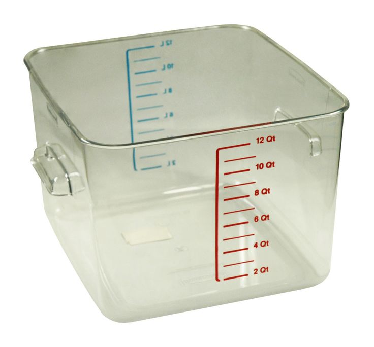 Rubbermaid 12 Qt Square Clear Container (6312)