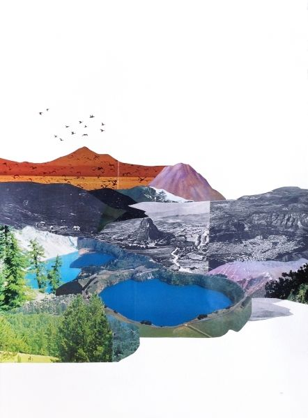 Meredith Earls / New Colour / collage & mixed media / 56x76cm  / $860