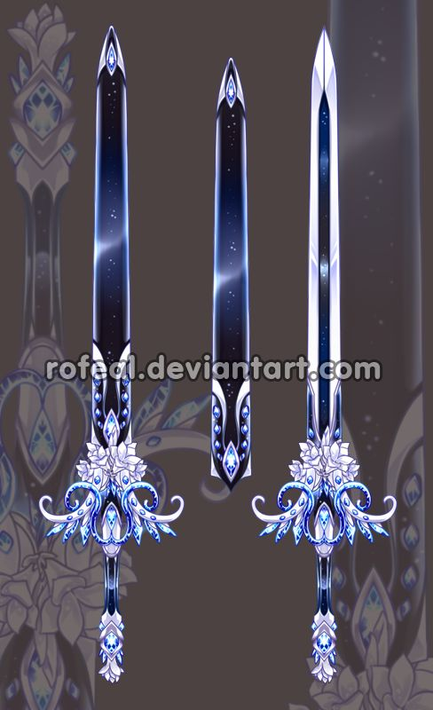 EDIT #2 40 MINUTES LEFT!! AB's have been added!! EDIT: Letting everyone know this auction ends in about 4 hours time!! <3333</b> Here they are! The Halloween themed Katana Swords! Demon/Sl...