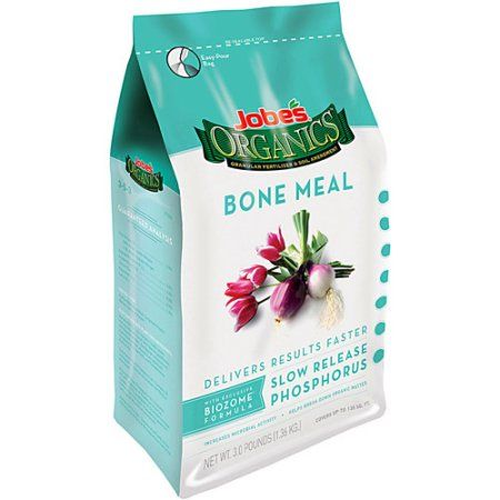 Jobe's Organics Bone Meal Fertilizer, 4 lbs - supplies ample amounts of calcium and phosphorus, and it is ideal for use on flowers, tubers, bulbs and root crops. It is also approved for organic gardens.