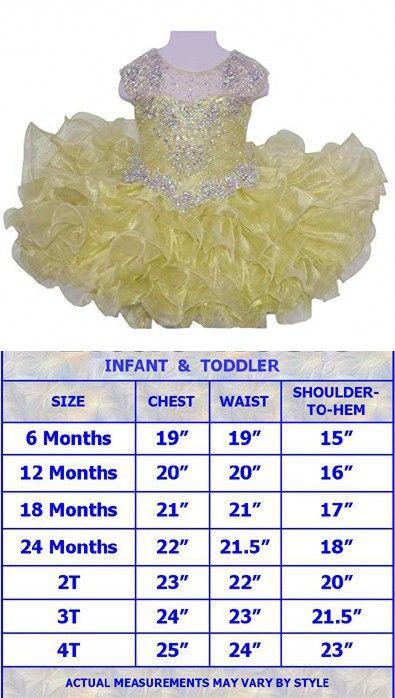 HuaiLian Baby Girls Sheer Neck Crystal Infant Mini Cupcake Pageant