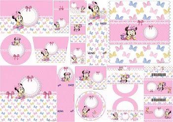 Minnie Bebé: Etiquetas para Candy Bar para Imprimir Gratis.
