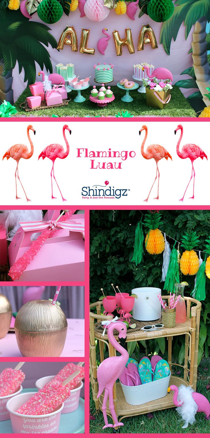 celebrate your summer with party ideas from the shindigz blog check out the flamingle luau - Party Products
