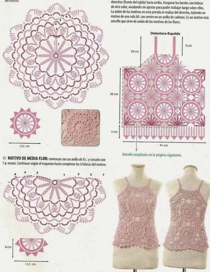 3764 best TOPS DE MI LOVE images on Pinterest | Crochet granny ...