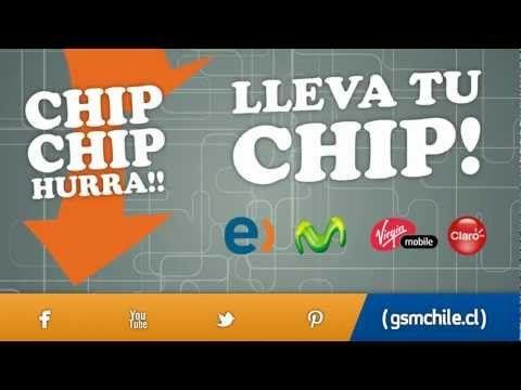 Lleva tu chip: Entel, Movistar, Virgin Mobile, Claro. Adquiérelos en GSM Chile. Visita nuestra web: www.gsmchile.cl. Síguenos en Facebook y Twitter.