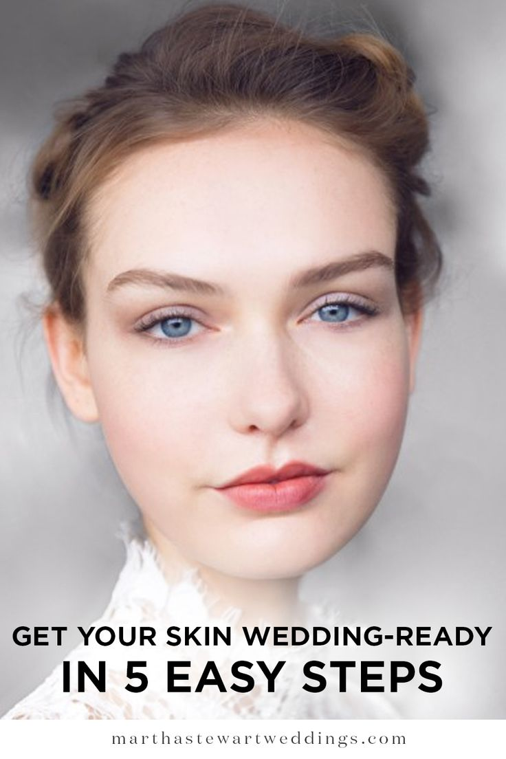 Get Your Skin Wedding-Roady in 5 Easy Steps | Martha Stewart Weddings - Unless you're Rihanna, Kendall Jenner, Taylor Swift, or another celebrity, your wedding is probably going to be your most photographed moment. This means you've got to take stock of your skin. Now there are lots of hyped-up treatments you can book in for, but at the end of the day, nothing beats good products.