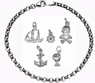 CHARMED BY PIRATES Bracelet - Sterling Silver