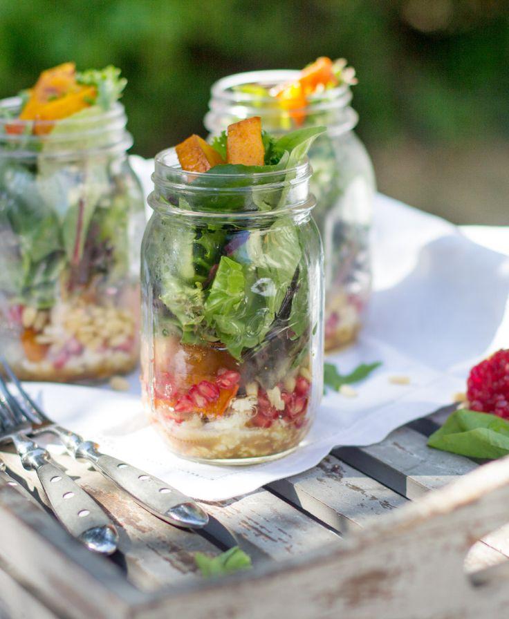 Kürbis Salat im Glas!