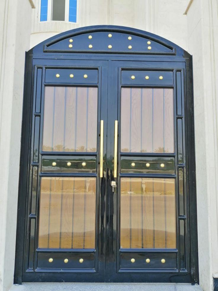 باب خارجي مع خشب Door Gate Design Gate Design Decor