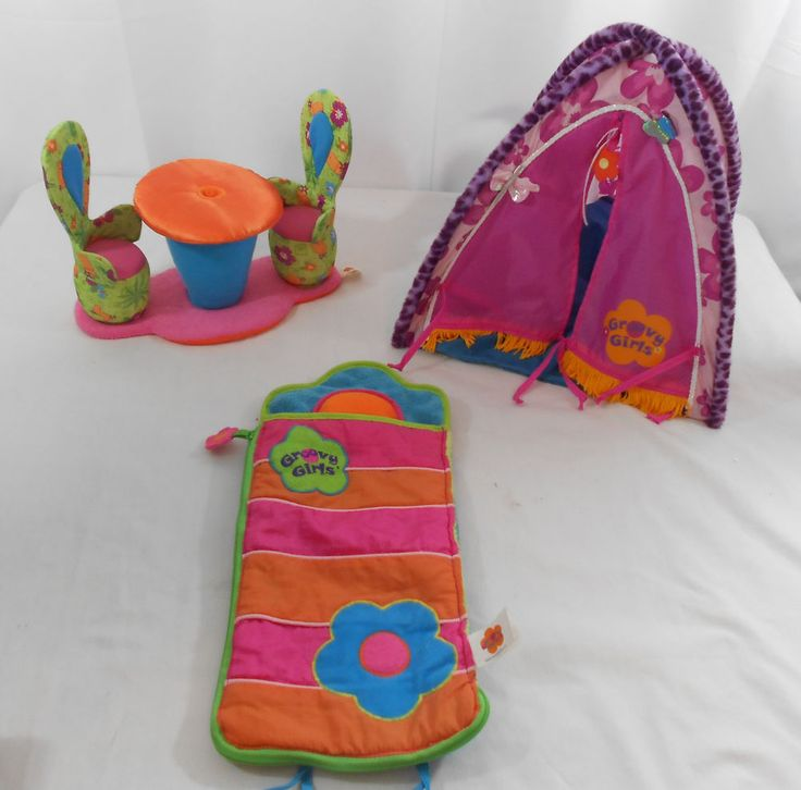 Groovy Girls Collapsible Tent Sleeping Bag & Chairs #GroovyGirl #Accessory