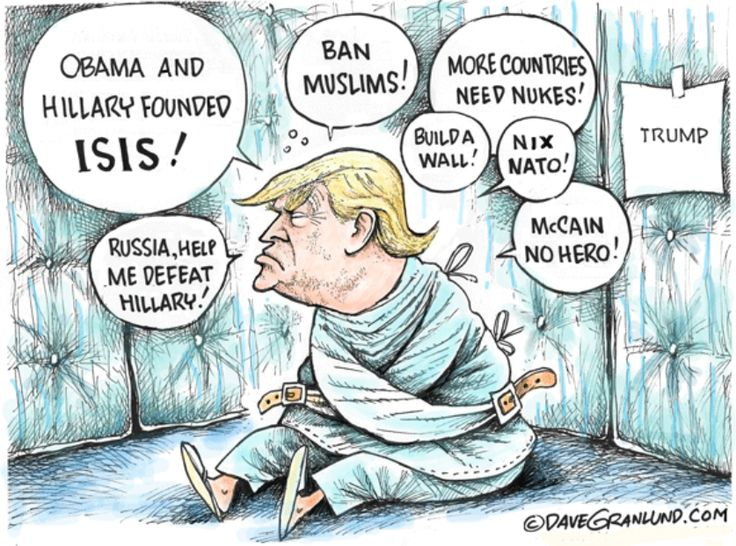 The Donald's distorted reality ... a tragedy likely worthy of a padded cell..
