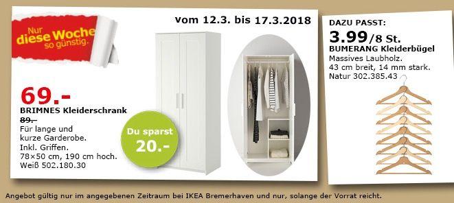 #IKEA BRIMNES Kleiderschrank für 69,00€ (statt 89,00€) https://www.billigerfinder.de/kueche-und-haushalt/1520855838473-ikea-brimnes-kleiderschrank