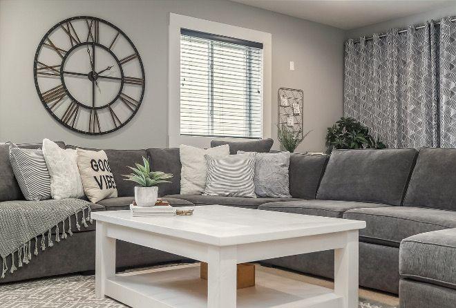 Sherwin Williams Light French Gray Sw0055 Grey Paint Color For Basement Sherwin Williams Light Living Room Grey Paint Colors For Living Room Family Room Design