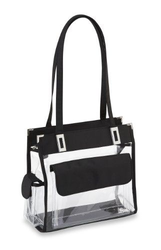 Clear Handbag with Front Pocket - 12 in Wide Clear Handbags & More,http://www.amazon.com/dp/B004TSM71Y/ref=cm_sw_r_pi_dp_.RYvtb17NVCET0WF