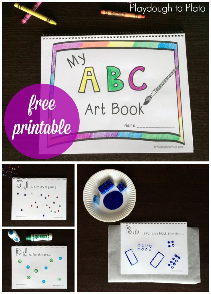 Free Printable ABC Book. So awesome!! {Playdough to Plato}