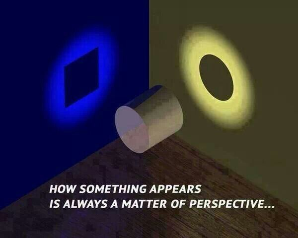 How something appears is always a matter of perspective...
