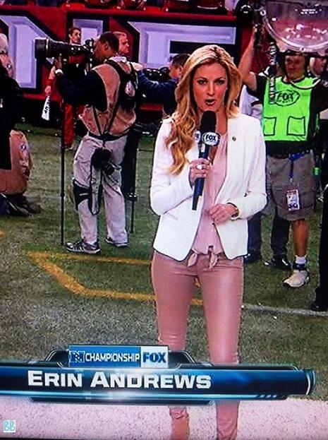 Erin Andrews Is Wearing Nude Nail Polish For Pants  Bobs Blitz  Funny But Wrong -2620