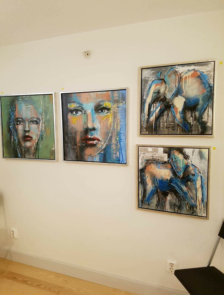 """From my shared exhibition at gallery """"My art factory"""" in Norrköping/Sweden. #art #portrait #elephant #acrylic #mixedmedia #painting #frankforsman #picturesbyfrank"""