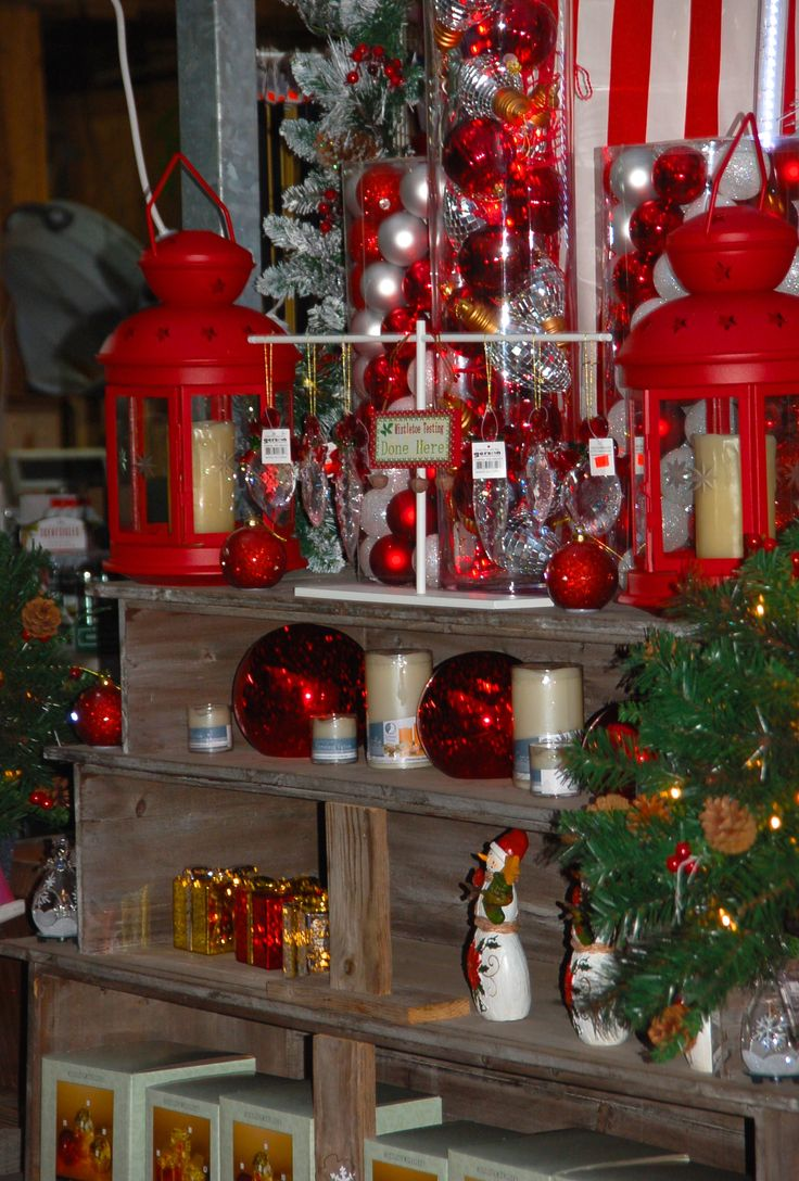 tall glass cylinder and some led's and ornaments and see the magic..
