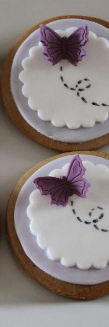 Biscotti con farfalla