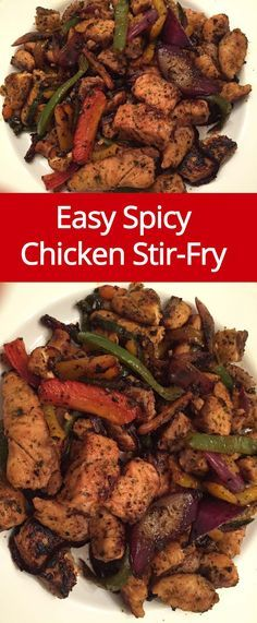 Spicy Chicken Stir Fry Recipe With Onions And Peppers
