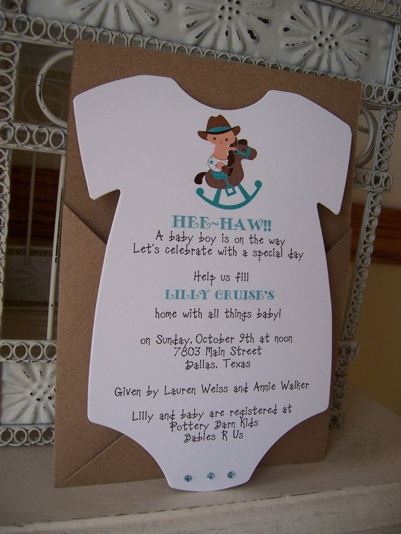 21 best Baby Shower images on Pinterest Cowboy baby shower - baby shower nia