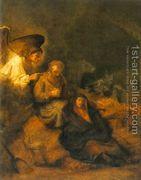 The Dream of St Joseph 1650-55 by Rembrandt Van Rijn