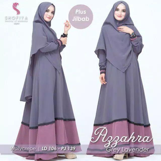Gamis Syar I Terbaru 2020 Azzahra Ori By Shofiya Baju Gamis Terbaru Online Wanita Baju Muslim Model Pakaian