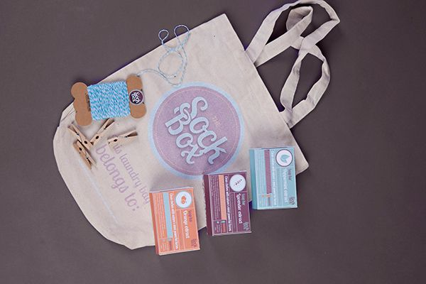 SockBox Laundromat on Behance by Arnica Botha Bag Laundry Box Packagaing