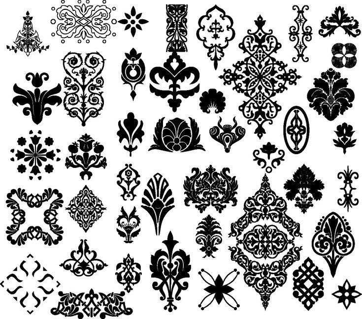 Black Flower Decorative Frame Vectors Material 04 Free: Floral Border Pattern Flowers Vector Vintage Ornamental