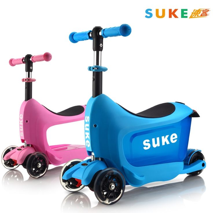 (123.00$)  Buy here - http://aizs3.worlditems.win/all/product.php?id=32632879724 - Four Wheel Scooter flash storage lifting folding scooter child scooter suitcase