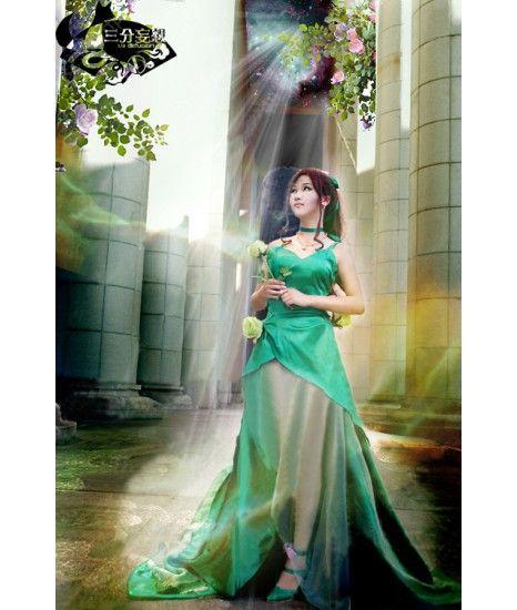 Sailor Moon Sailor Jupiter Princess Green Formal Dress